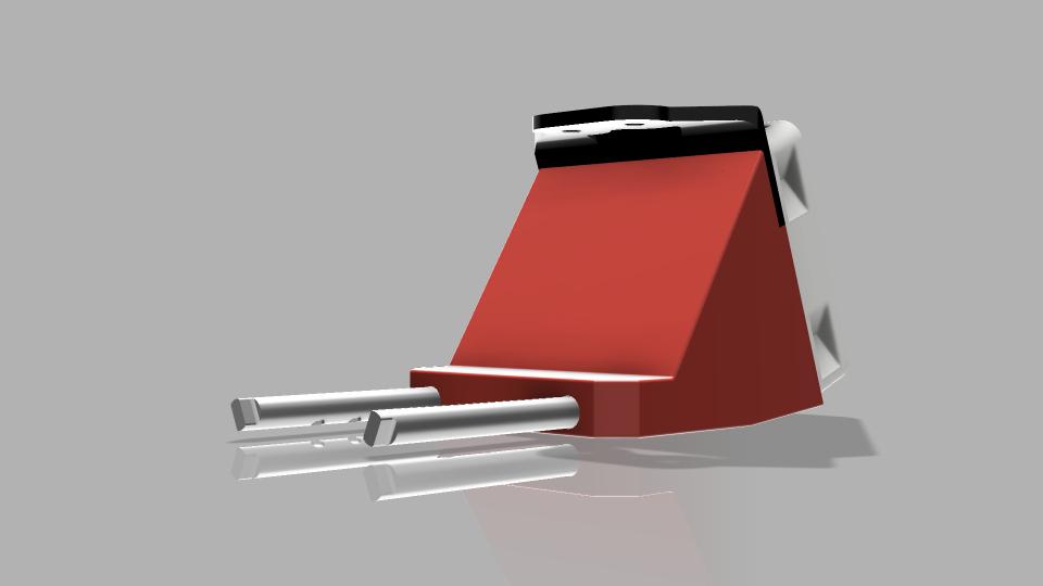Duet3D Smart Effector Tusk Fan Shroud BL