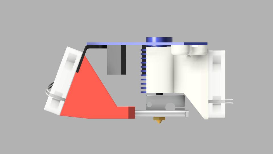 Duet3D Smart Effector Tusk Fan Shroud R