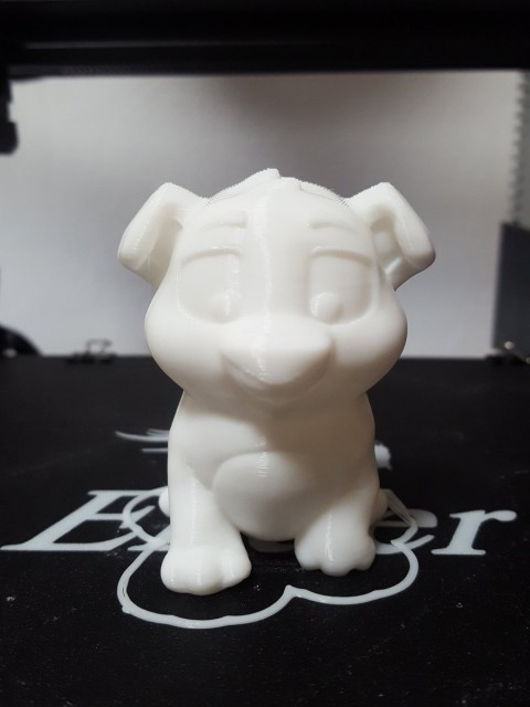 Niko the puppy printed on the @Creality3dprint Ender 3, 0.2 layers printed in @e…