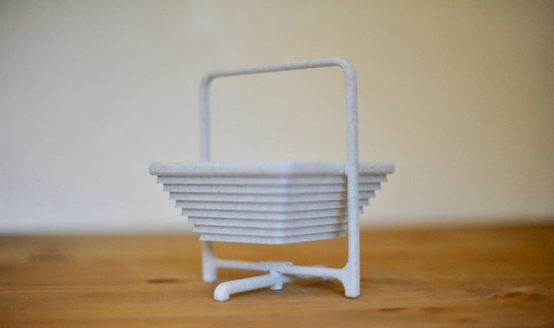 Well the collapsable basket from @thingiverse turned out beautifully at 300 micr...