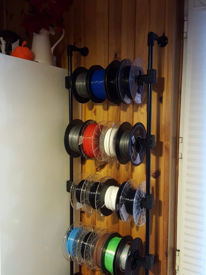 Was running out of space for filament, @adskFusion360 and some @RealFilament PET...