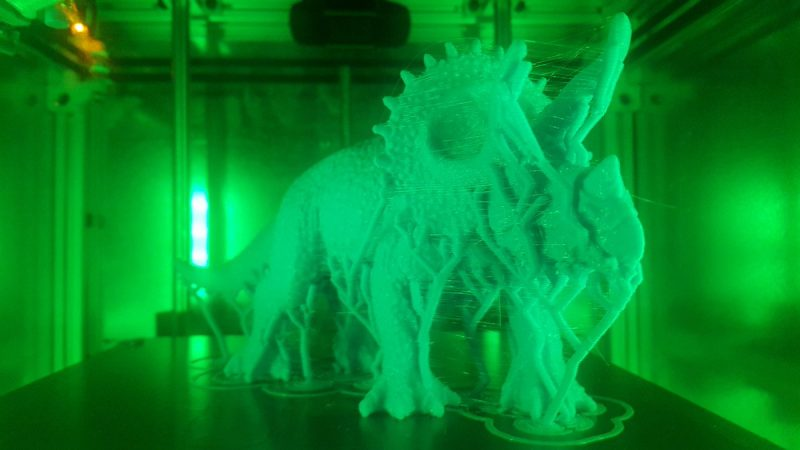 Nephew likes dinosaurs so decided to print a triceratops from @thingiverse now j...